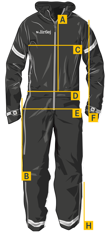 dirtlej commutesuit road edition measurements