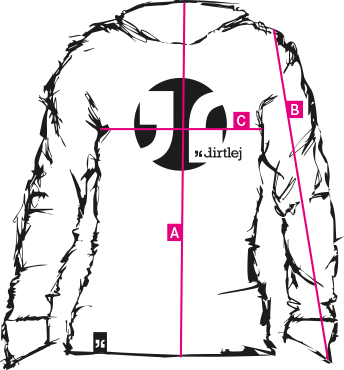 dirtlej mountee warm mens cut measurements